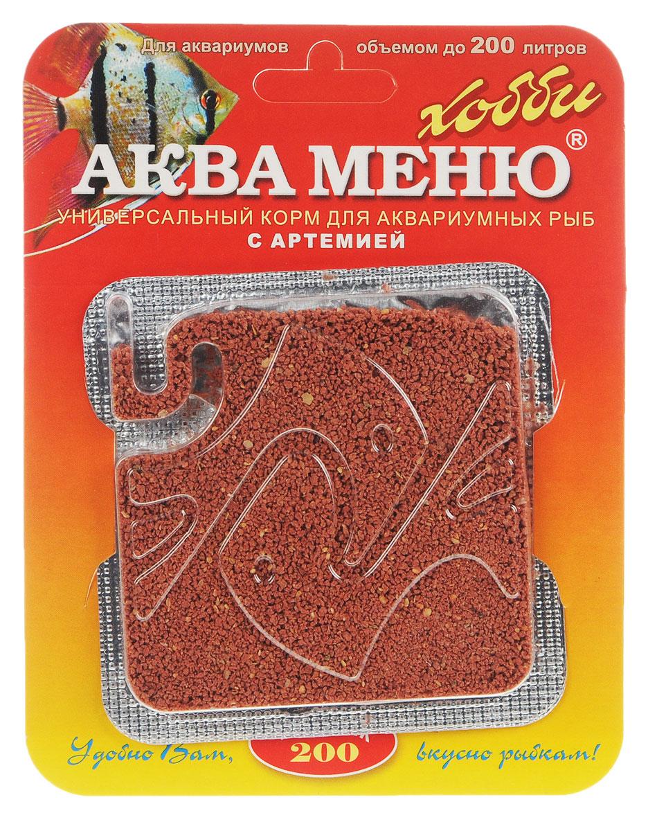 Корм Аква Меню Униклик-200 для рыб, с артемией, 6,5 г00000000926Универсальный ежедневный корм Аква Меню Униклик-200 с артемией подходит для большинства видов аквариумных рыб: живородящих, цихлид, харациновых, лабиринтовых, карповых, различных сомов и других рыб длиной 3-10 см. Корм полезно 1-2 раза в неделю чередовать с кормом Аква Меню Фитоклик со спирулиной. Рекомендуется для аквариумов объемом до 200 л. Одна порция 50 мг корма- дневной рацион для взрослых рыб, общей массой 10 г. Химический состав на 1 кг: белки - 43,7%, жиры - 7%, клетчатка - 2,5%, влажность - 10%, Витамин А - 20000 МЕ, Витамин D3 - 2000 МЕ, Витамин Е - 100 мг. Товар сертифицирован.