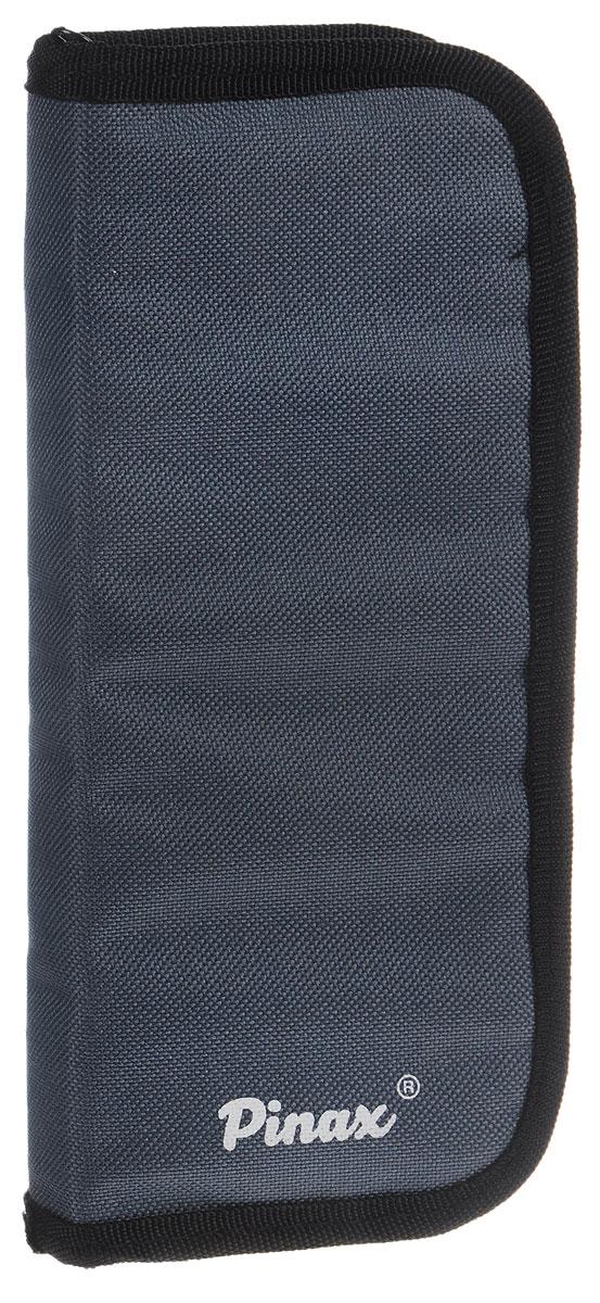Pinax Пенал для кистей малыйZIPCASE-SПрактичный пенал для кистей Pinax изготовлен из прочного текстиля серого цвета.Изделие содержит одно отделение, которое закрывается на молнию. Внутри расположены 10 индивидуальных ячеек для принадлежностей (по 5 с каждой стороны) и по 5 снизу в сеточку расположенных ниже. Пенал оснащен петлей, которая позволит удобно его зафиксировать.Стильный пенал для кистей - находка для настоящего художника!