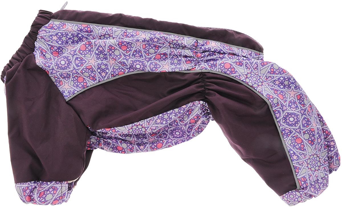 Комбинезон для собак Happy Puppy  Звездочка , для девочки, цвет: фиолетовый, сиреневый. Размер 3 (L)