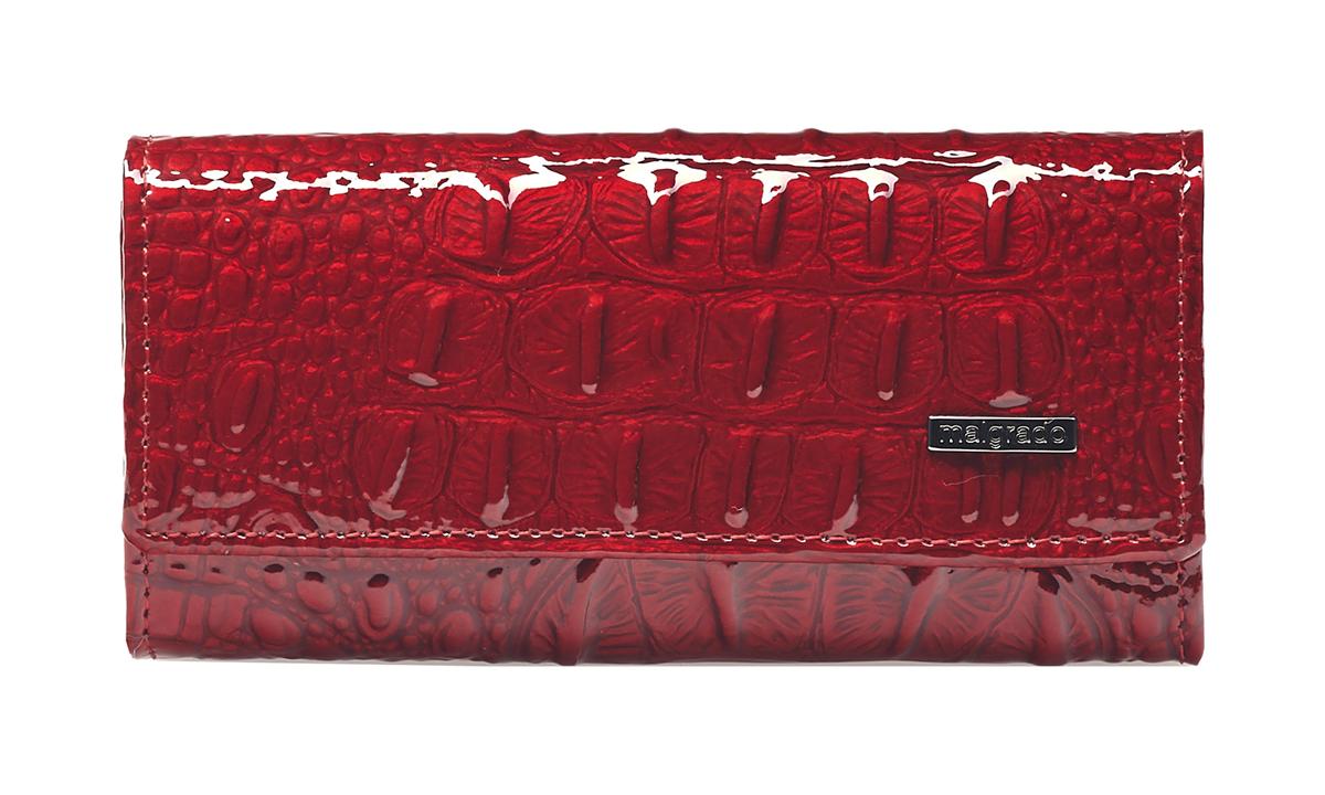 Ключница женская Malgrado, цвет: красный. 47006-0170139864|Серьги с подвескамиКлючница торговой марки Malgrado из натуральной кожи. Закрывается на две кнопки. Внутри 6 металлических карабинов для ключей и два кармашка, один на молнии. Снаружи металлическое кольцо.
