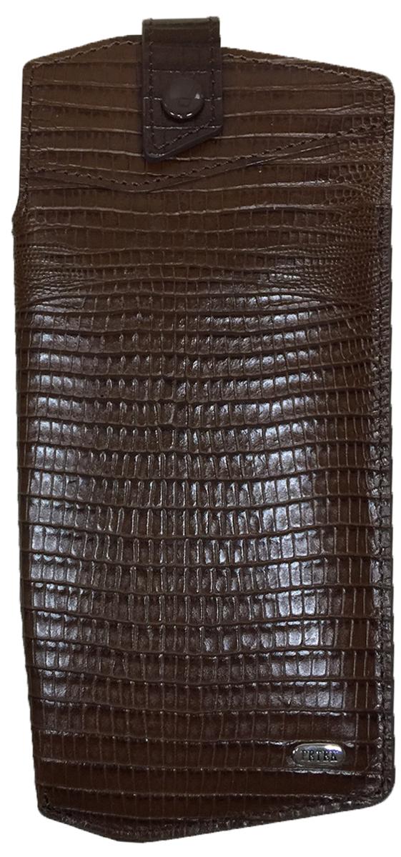 Футляр для очков Petek 1855, цвет: коричневый. 631.041.02INT-06501Стильный футляр для очков Petek 1855 выполнен из натуральной кожи. Изделие закрывается небольшим клапаном на кнопку. Подкладка изготовлена из мягкого текстильного материла. Футляр для очков это не только красота и стиль, но и просто необходимый аксессуар для тех, кто хочет продлить жизнь своим очкам.