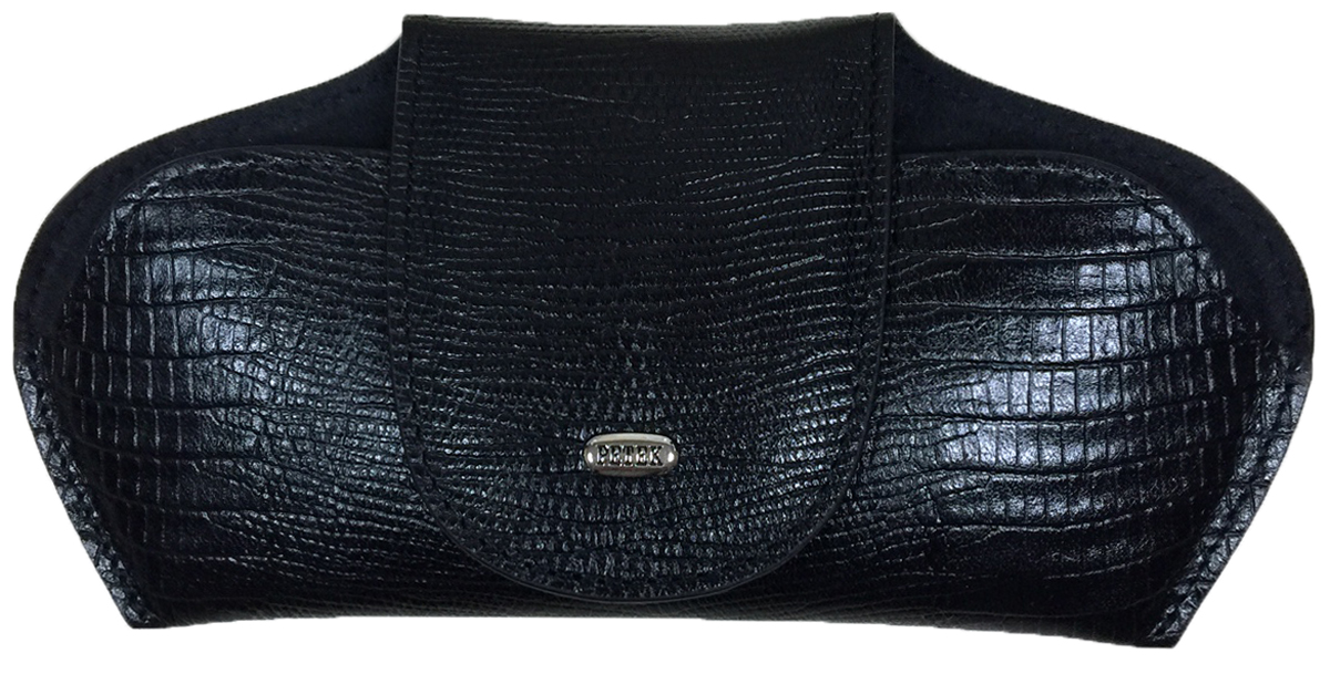 Футляр для очков Petek 1855, цвет: черный. 632.041.01INT-06501Футляр для очков (очечник) из натуральной мягкой кожи. Внутренняя поверхность сделана из бархатистой ткани.