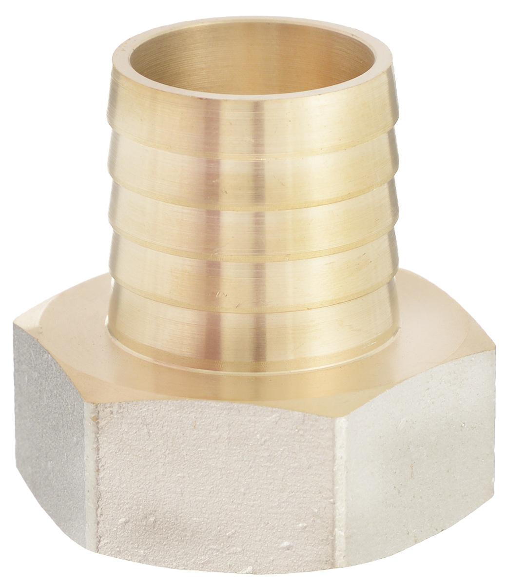 Переходник U-Tec, для резинового шланга, внутренняя резьба 1 х 25 мм059D-D-ITCOПереходник U-Tec предназначен для соединения резьбовых соединений с резиновым шлангом. Изделие изготовлено из прочной и долговечной латуни. Никелированное покрытие на внешнем корпусе защищает изделие от окисления. Продукция под торговой маркой U-Tec прошла все необходимые испытания и по праву может считаться надежной.Размер ключа: 34 мм.
