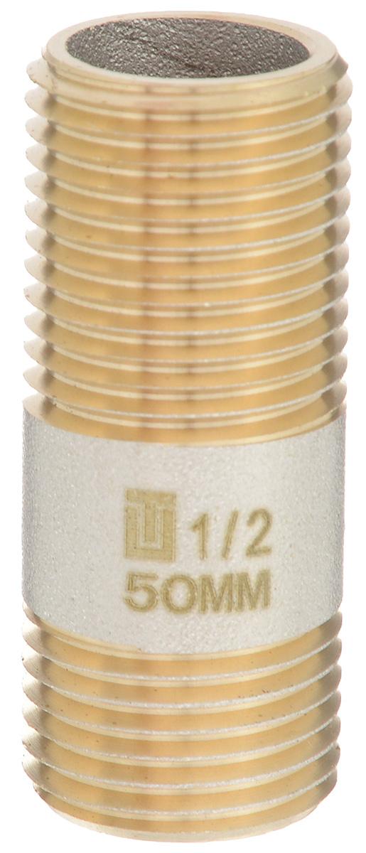 Сгон U-tec с фаской, 1/2, 50 мм38393Сгон U-tec предназначен для прямого соединения в качестве разъема с помощью муфт и контргаек. Изделие сделано из латуни ЛС 58-2 с никелевым покрытием, с одной стороны короткая резьба для стандартного соединения и с другой стороны длинная резьба под муфту и контргайку, для соединения и разъединения трубопровода. Сгон U-tec применяется в системах водоснабжения для холодной и горячей воды, отопления, паровых, масляных, неагрессивных жидкостях, воздуховодах, и других системах.