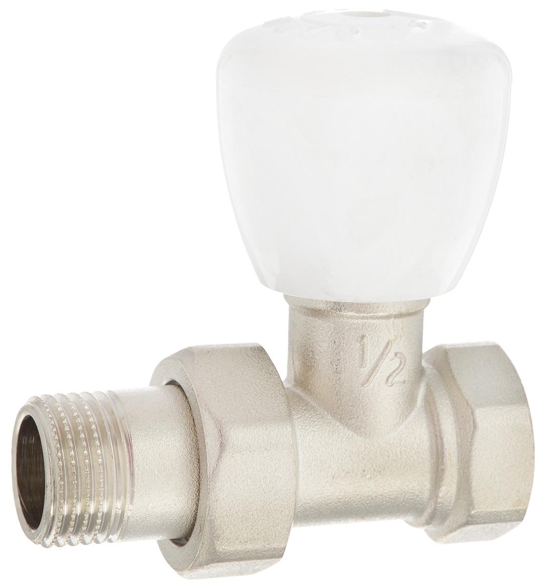 Клапан радиаторный Fornara, регулировочный, прямой, боковое подключение, 1/2ИС.110167Клапан Fornara -это ручной радиаторный клапан, устанавливаемый на подаче радиаторов или теплообменников в системах водяного отопления.Предназначен для ручной регулировки количества поступающего в отопительный прибор теплоносителя. Клапан позволяет полностью перекрывать поток. Подключение клапана к отопительному прибору производится с помощью закладной детали и полусгона.