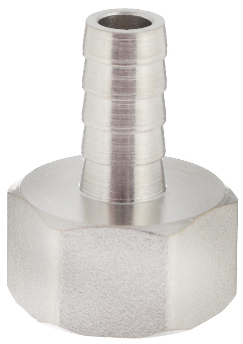 Переходник U-tec, для резинового шланга, ВР, 1/2 х 10BL505Переходник U-tec, выполненный из латуни с никелевым покрытием, предназначен для перехода трубопровода с внутренней на наружную резьбу меньшего диаметра. Предусмотрен участок корпуса шестигранной формы, под гаечный ключ.