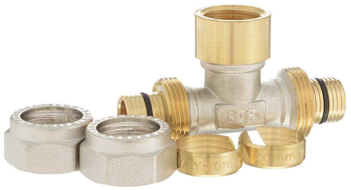 Тройник Fornara, ц - г- ц, 20 х 2,0 х 1/2 х 20 х 2,0ИС.110324Тройник Fornara - это фитинг для металлопластиковых труб систем отопления, водоснабжения, технологических установок. Предназначен для соединения металлополимерных труб на основе обычного, сшитого или термоустойчивого полиэтилена и может применяться в инженерных и технологических системах с рабочей температурой до 115 °С.