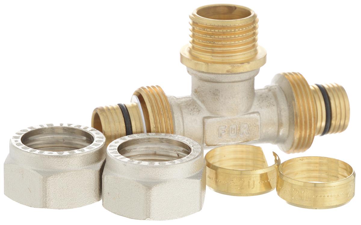 Тройник Fornara, ц - ш - ц, 20 x 1/2 x 2030660Тройник Fornara - это фитинг для металлопластиковых труб систем отопления, водоснабжения, технологических установок. Предназначен для соединения металлополимерных труб на основе обычного, сшитого или термоустойчивого полиэтилена и может применяться в инженерных и технологических системах с рабочей температурой до 115 °С.