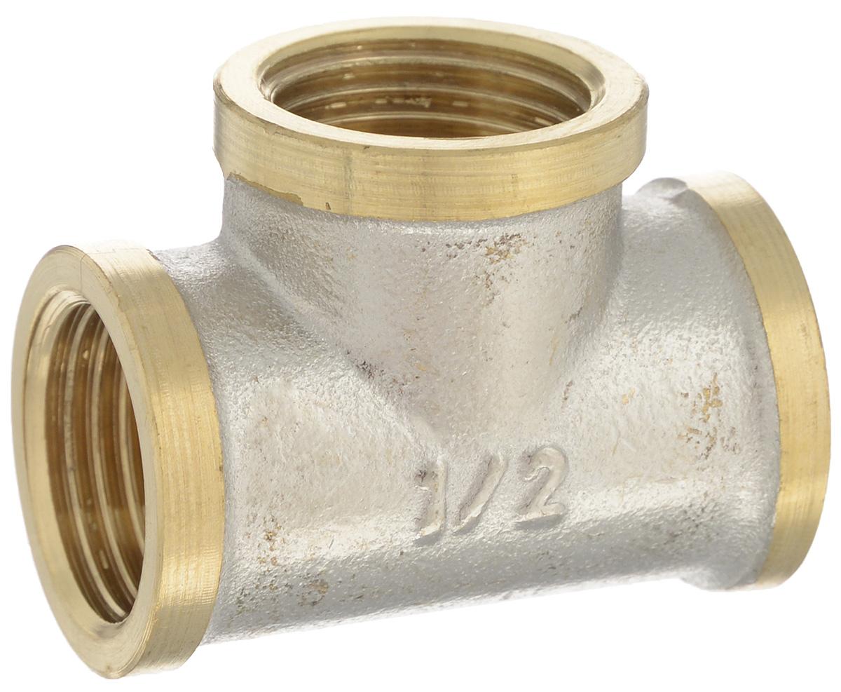Тройник U-tec с фаской, 1/2BL505Тройник U-tec - это многофункциональный переходник, применяемый на медных, стальных и латунных трубопроводах. Он предназначен для соединения труб в системах отопления, водоснабжения и других системах с номинальным давлением PN 10. Тройник выполнен из сверхпрочной латуни с никелированным покрытием. Материал обладает отличной устойчивостью к коррозии и механическим повреждениям.Преимущества: