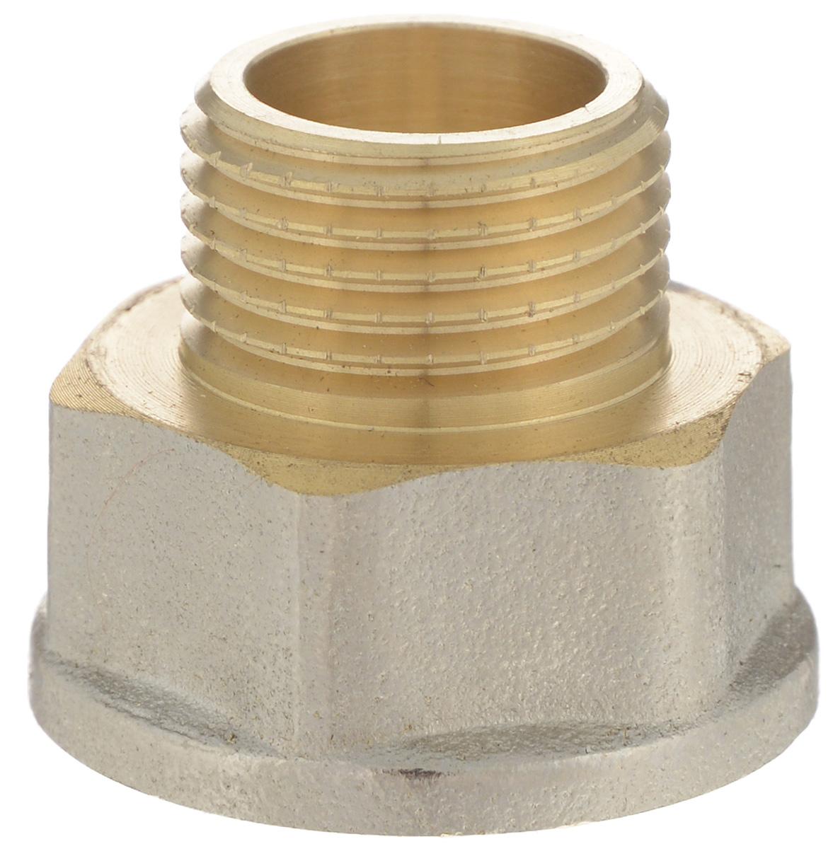 Переходник U-tec, с фаской, 3/4 х 1/268/5/4Переходник U-Tec применяется для водоснабжения и отопления. Корпус выполнен из никелированной латуни.Изделие прошло все необходимые испытания и по праву может считаться надежным.Присоединительные размеры: 3/4 x 1/2.