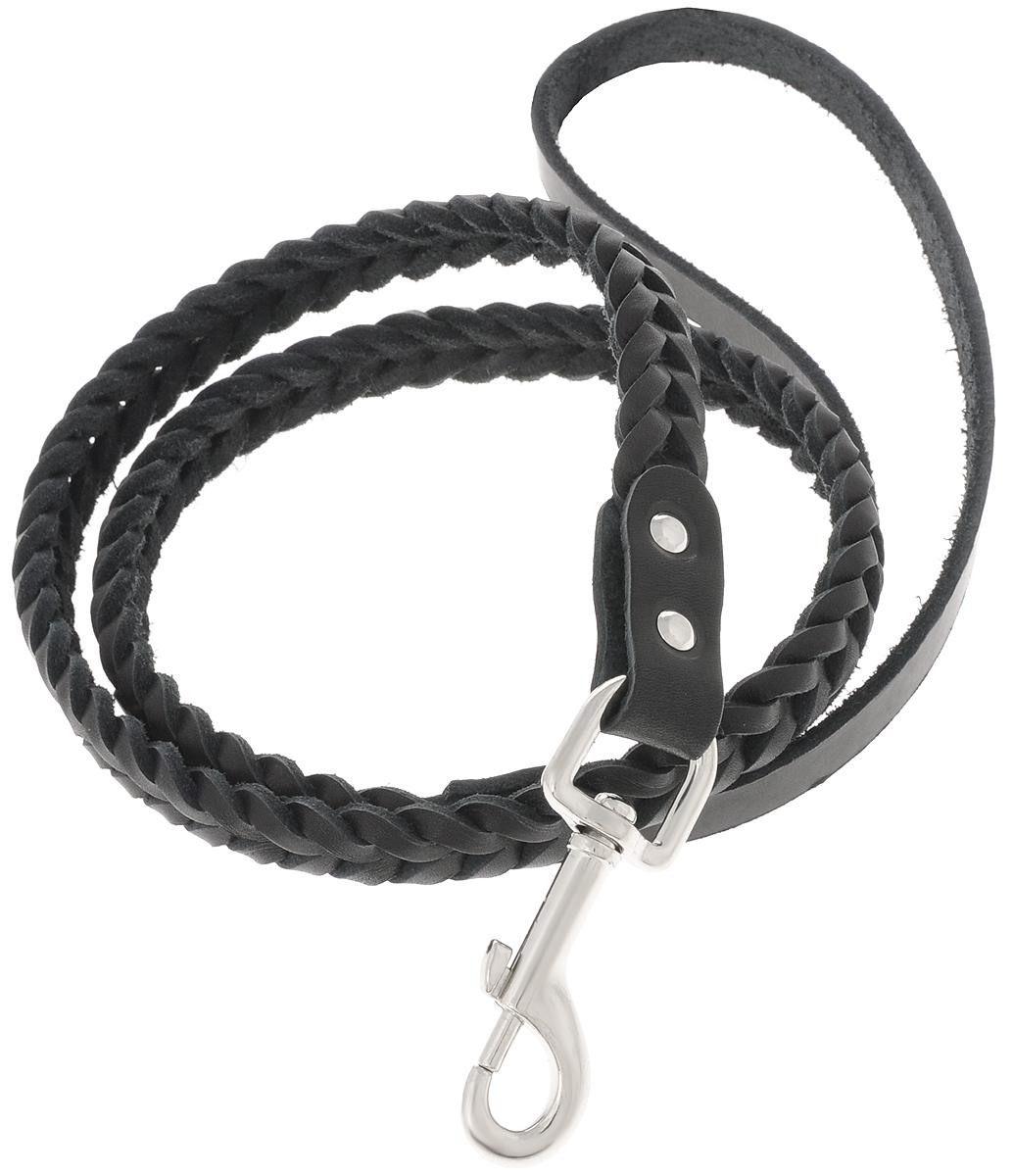 Поводок для собак Каскад Классика, плетеный, цвет: черный, ширина 1 см, длина 1,25 м02010021чПоводок для собак Каскад Классика изготовлен из высококачественной искусственный кожи в виде объемного плетения и снабжен металлическим карабином. Изделие отличается не только исключительной надежностью и удобством, но и привлекательным современным дизайном.Поводок - необходимый аксессуар для собаки. Ведь в опасных ситуациях именно он способен спасти жизнь вашему любимому питомцу. Иногда нужно ограничивать свободу своего четвероногого друга, чтобы защитить его или себя от неприятностей на прогулке. Длина поводка: 1,25 м.Ширина поводка: 1 см.