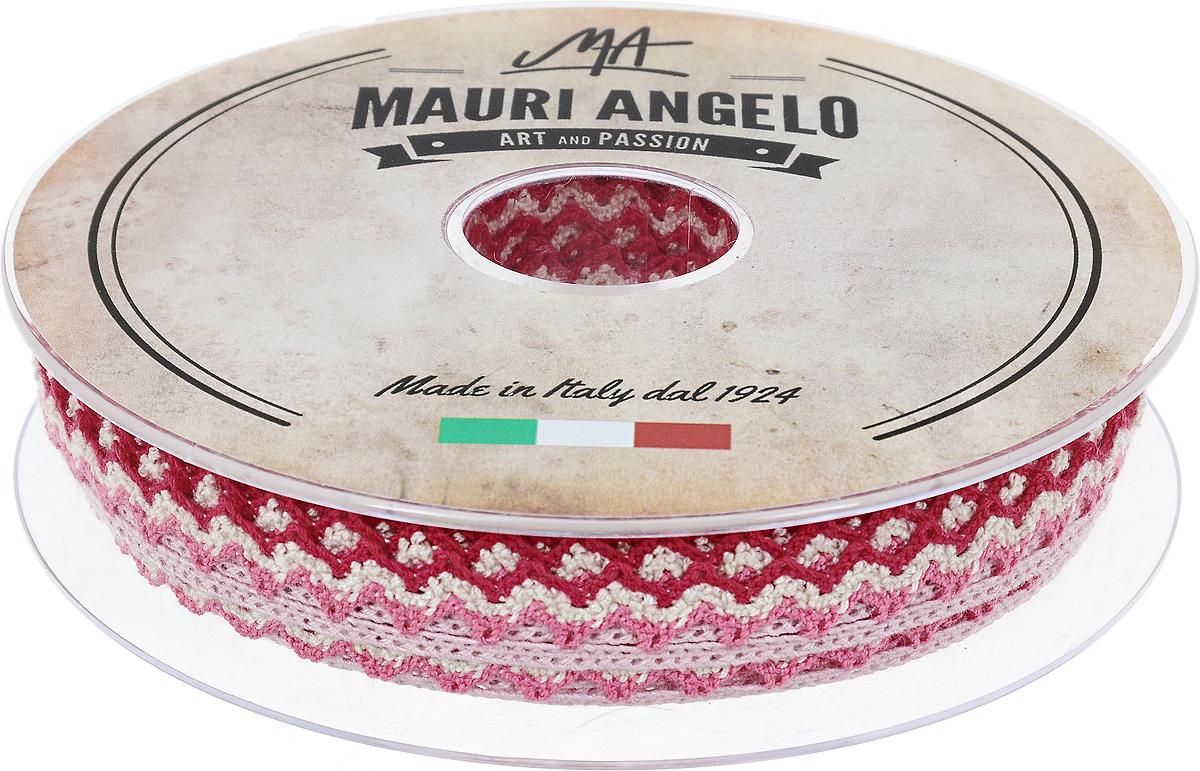 Лента кружевная Mauri Angelo, цвет: розовый, сиреневый, 1,45 см х 20 мC0042416Декоративная кружевная лента Mauri Angelo - текстильное изделие без тканой основы, в котором ажурный орнамент и изображения образуются в результате переплетения нитей. Кружево применяется для отделки одежды, белья в виде окаймления или вставок, а также в оформлении интерьера, декоративных панно, скатертей, тюлей, покрывал. Главные особенности кружева - воздушность, тонкость, эластичность, узорность.Декоративная кружевная лента Mauri Angelo станет незаменимым элементом в создании рукотворного шедевра. Ширина: 1,45 см.Длина: 20 м.