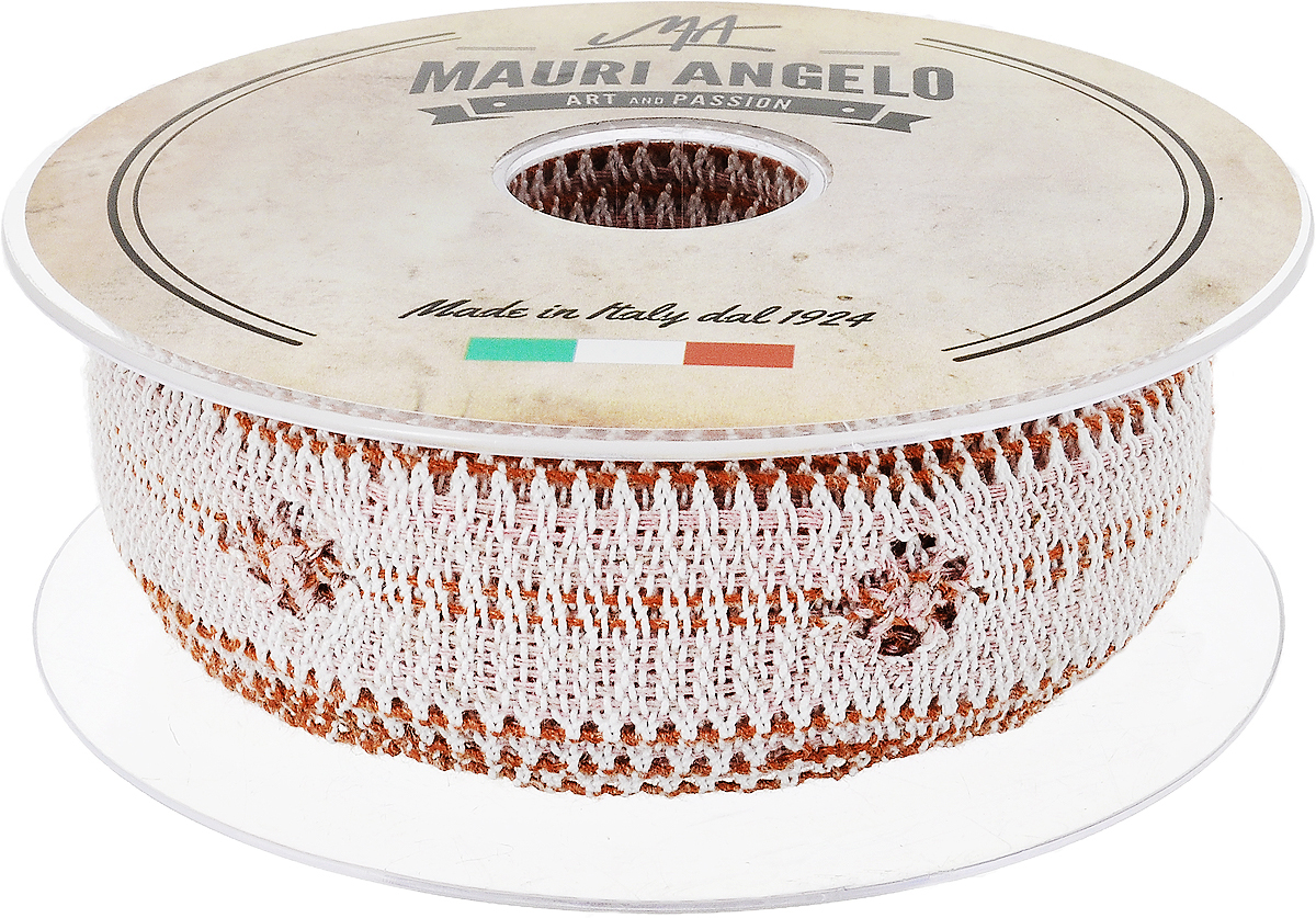 Лента кружевная Mauri Angelo, цвет: белый, оранжевый, розовый, 2,8 см х 10 мNLED-454-9W-BKДекоративная кружевная лента Mauri Angelo - текстильное изделие без тканой основы, в котором ажурный орнамент и изображения образуются в результате переплетения нитей. Кружево применяется для отделки одежды, белья в виде окаймления или вставок, а также в оформлении интерьера, декоративных панно, скатертей, тюлей, покрывал. Главные особенности кружева - воздушность, тонкость, эластичность, узорность.Декоративная кружевная лента Mauri Angelo станет незаменимым элементом в создании рукотворного шедевра. Ширина: 2,8 см.Длина: 10 м.