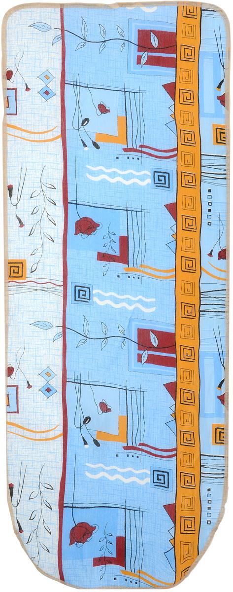 Чехол для гладильной доски Eva Грация, цвет: голубой, желтый, бордовый, 125 х 47 смGC204/30Чехол Eva Грация, выполненный из хлопка со вспененным слоем, продлит срок службы вашей гладильнойдоски. Чехол снабжен стягивающим шнуром, припомощи которого вы легко отрегулируетеоптимальное натяжение чехла и зафиксируете его нарабочей поверхности гладильной доски.Размер чехла: 125 х 47 см. Максимальный размер доски: 116 х 47 см.