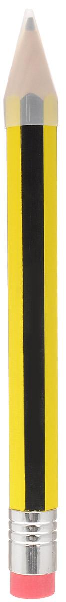 Эврика Карандаш с ластиком 40 см211-7510-100Очень большой карандаш с ластиком- это увеличенная копия широко известного предмета канцелярии. Пользоваться им можно так же, как и обычным карандашом. Карандаш изготовлен из натурального дерева и оформлен черно-желтыми полосами.Толщина грифеля: 0,7 см. Карандаш дополнен ластиком и прозрачным колпачком.Такой карандаш - забавный подарок для каждого Большого Человека.