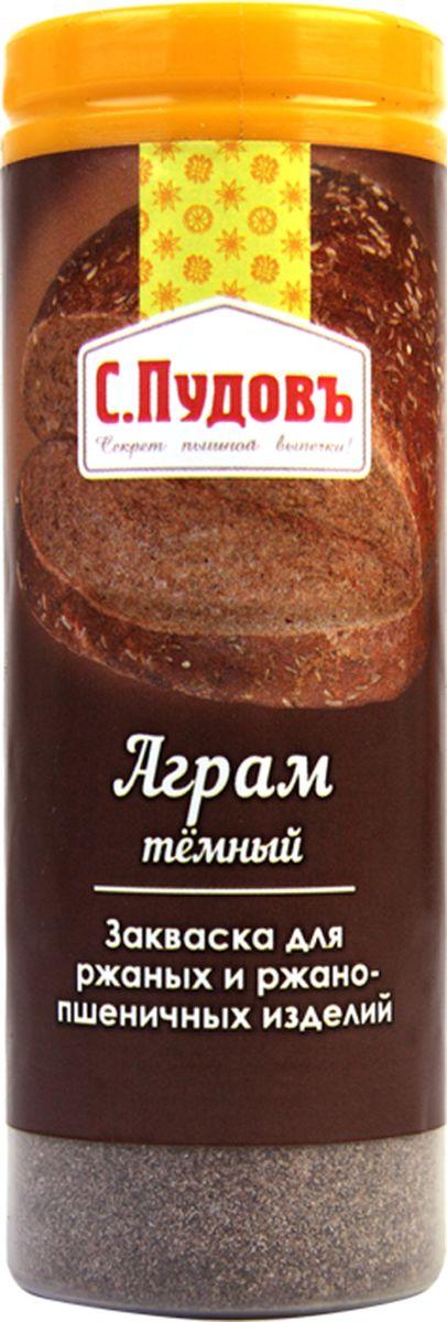Пудовъ аграм темный, 60 г14607012297133Сухая закваска Аграм темный используется при выпечке ржаного и ржано-пшеничного хлеба. Она предназначена для повышения эластичности и затемнения мякиша, улучшения вкуса и аромата готовых изделий. Рекомендуемая дозировка: 0,2-1,6% к массе муки.