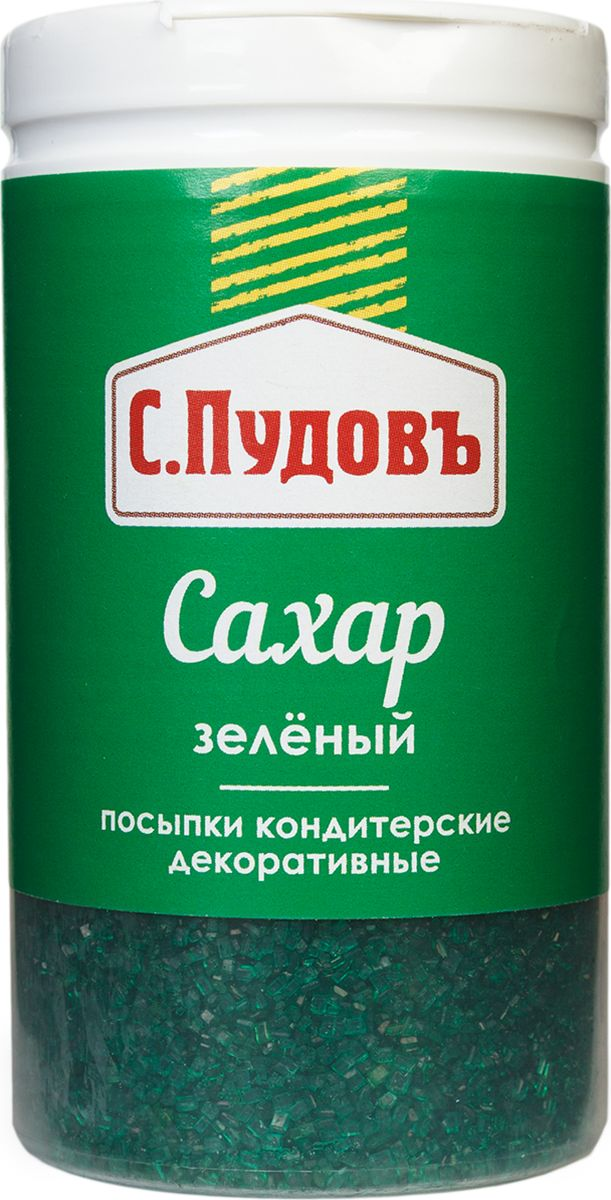 Пудовъ посыпки сахар зелёный, 65 г