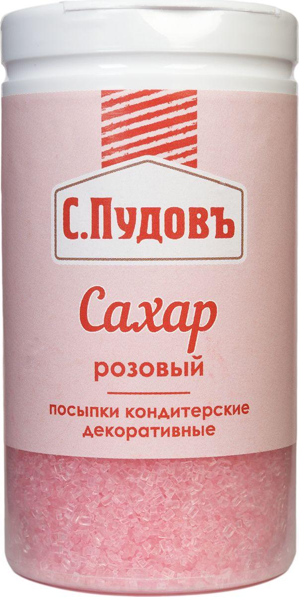 Пудовъ посыпки сахар розовый, 65 г
