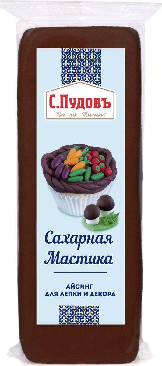 Пудовъ мастика сахарная коричневая, 100 г