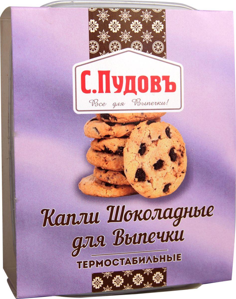 Пудовъ капли шоколадные термостабильные, 90 г0120710Если вы думаете о том, как добавить изюминку традиционным на вашей кухне хлебобулочным изделиям, тогда термостабильные шоколадные капли производства С. Пудовъ — это как раз то, что нужно. Эти аппетитные кусочки шоколада в удобной упаковке не тают при выпечке даже на высоких температурах, отлично сохраняют первозданный вид и форму и имеют просто великолепный вкус. Добавлять их можно практически в любые изделия. Хлеб и булочки, печенье и пряники, кексы и маффины — с термостабильными шоколадными каплями С. Пудовъ ваша домашняя выпечка станет только лучше и вкуснее!