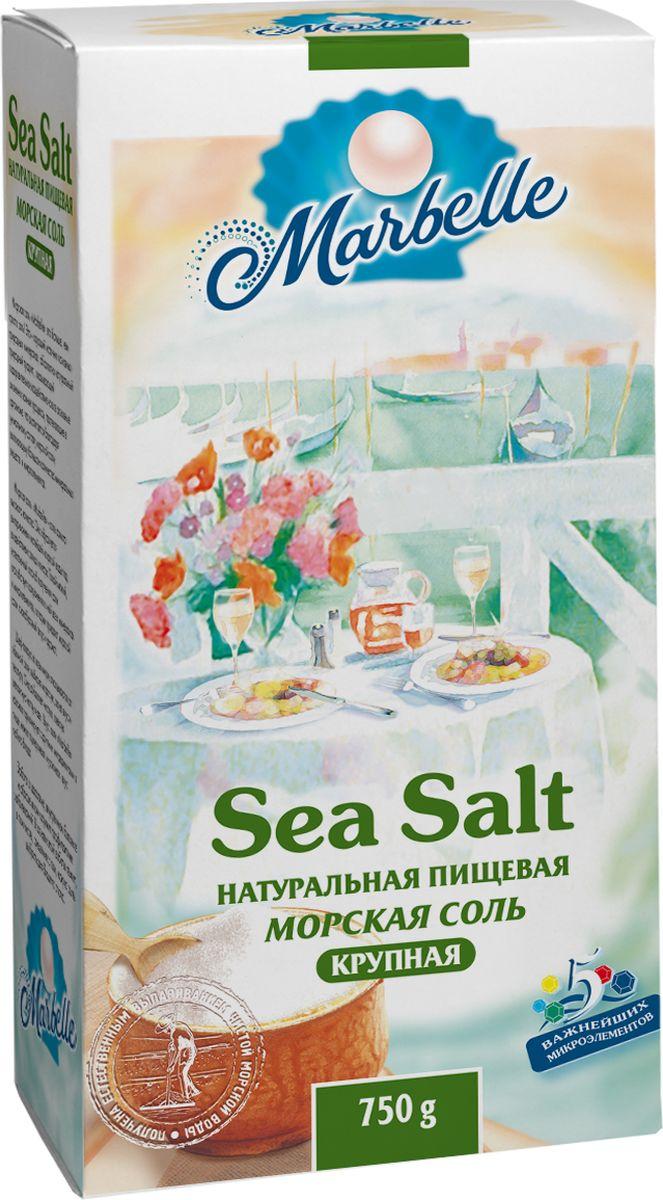 Marbellе морская соль крупная, 750 г0120710Натуральная морская соль крупного помола - богатый источник минеральных веществ и полезных микроэлементов, которые оказывают общее оздоровительное воздействие на процессы, протекающие в организме, а также насыщает его важными компонентами.