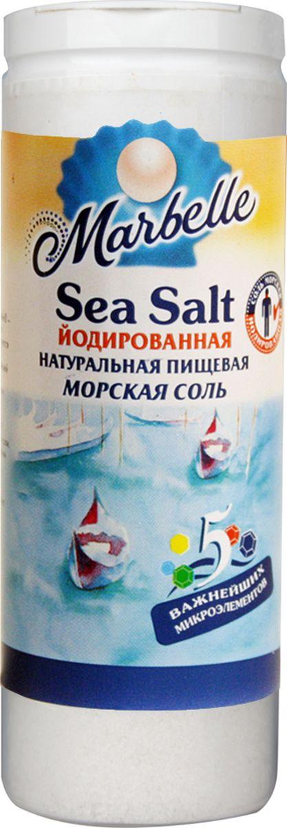 Marbellе морская соль йодированная мелкая, 150 г0120710Йодированная морская соль - натуральный природный продукт. Добывается на экологически чистых побережьях Средиземного моря, потом выпаривается под воздействием солнца и ветра.