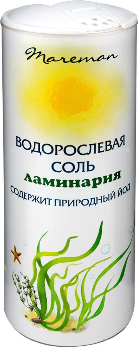 Mareman водорослевая соль ламинария, 150 г0120710Водорослевая соль – ламинария или водоросли морские, именуемые также морской капустой, представляют собой 100% натуральный продукт. Водорослевая соль естественным путем восполняет недостаток йода в организме человека, содержит йод в органической форме, является природным источником микроэлементов и витаминов.