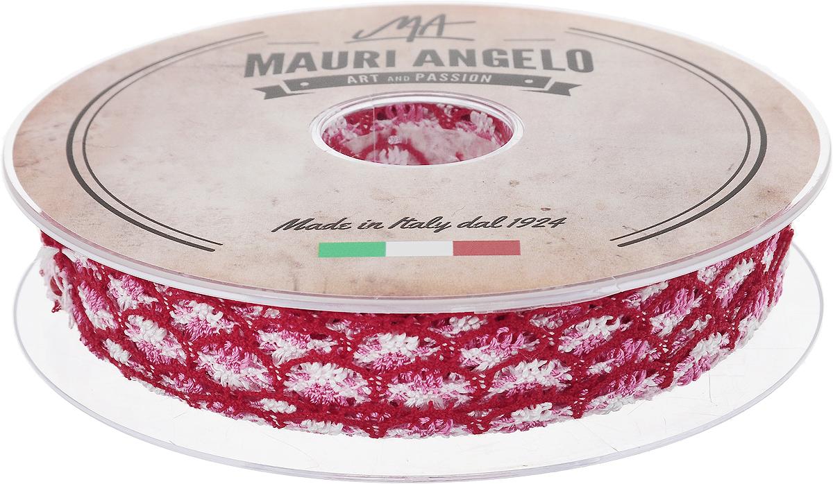 Лента кружевная Mauri Angelo, цвет: красный, розовый, белый, 1,8 см х 20 м. MR8849/MC/4RSP-202SДекоративная кружевная лента Mauri Angelo выполнена из высококачественного хлопка и ацетатного волокна. Кружево применяется для отделки одежды, постельного белья, а также в оформлении интерьера, декоративных панно, скатертей, тюлей, покрывал. Главные особенности кружева - воздушность, тонкость, эластичность, узорность.Такая лента станет незаменимым элементом в создании рукотворного шедевра.
