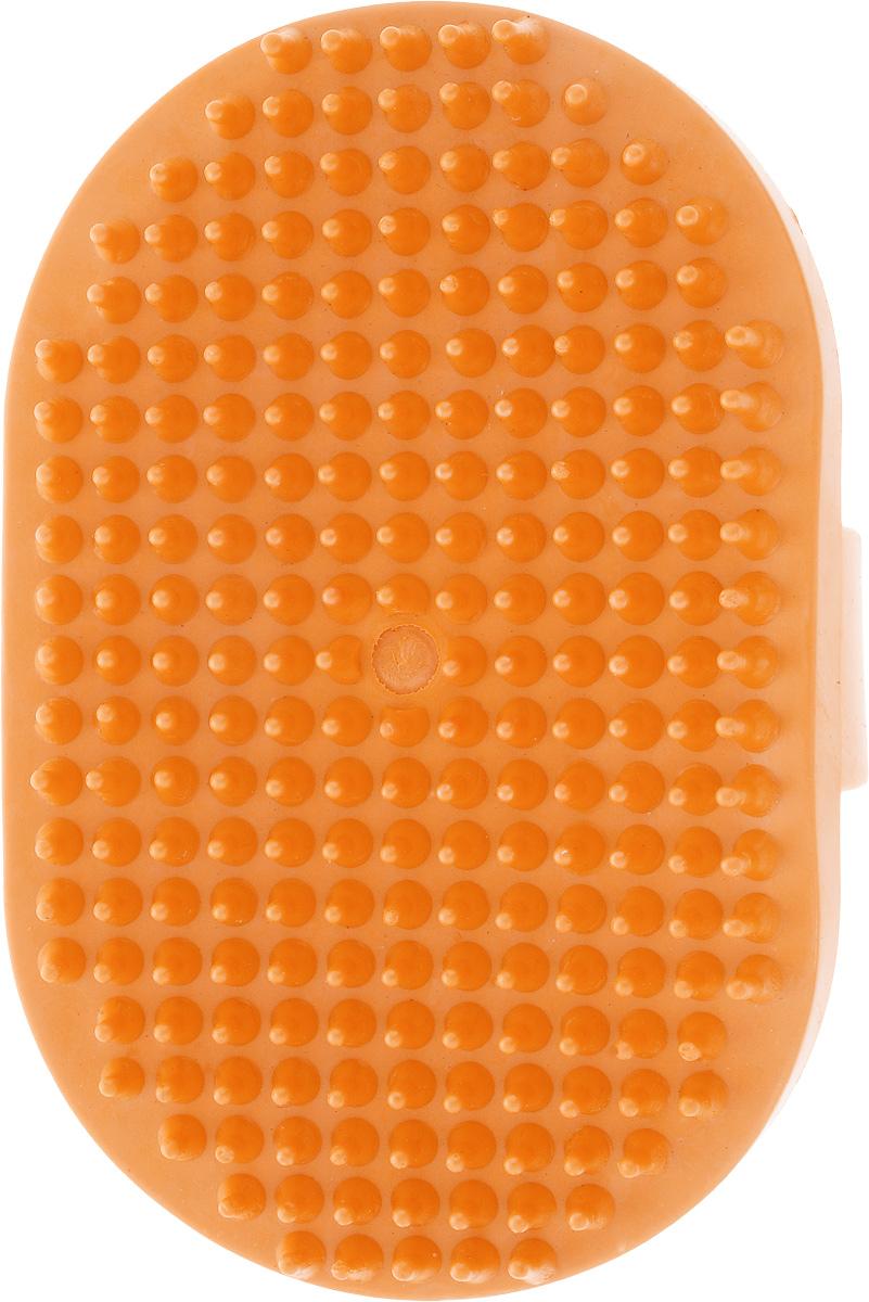 Щетка для животных Гамма, малая, цвет: оранжевый, 12,5 х 7,5 х 3,5 см0120710Массажная щетка для животных Гамма выполнена из качественного безопасного материала не травмирующего кожу. Удобно держать на руке.Компактный размер позволяет брать щетку с собой в дорогу. Размер щетки: 12,5 х 7,5 х 3,5 см.Длина зубчиков: 6 мм.
