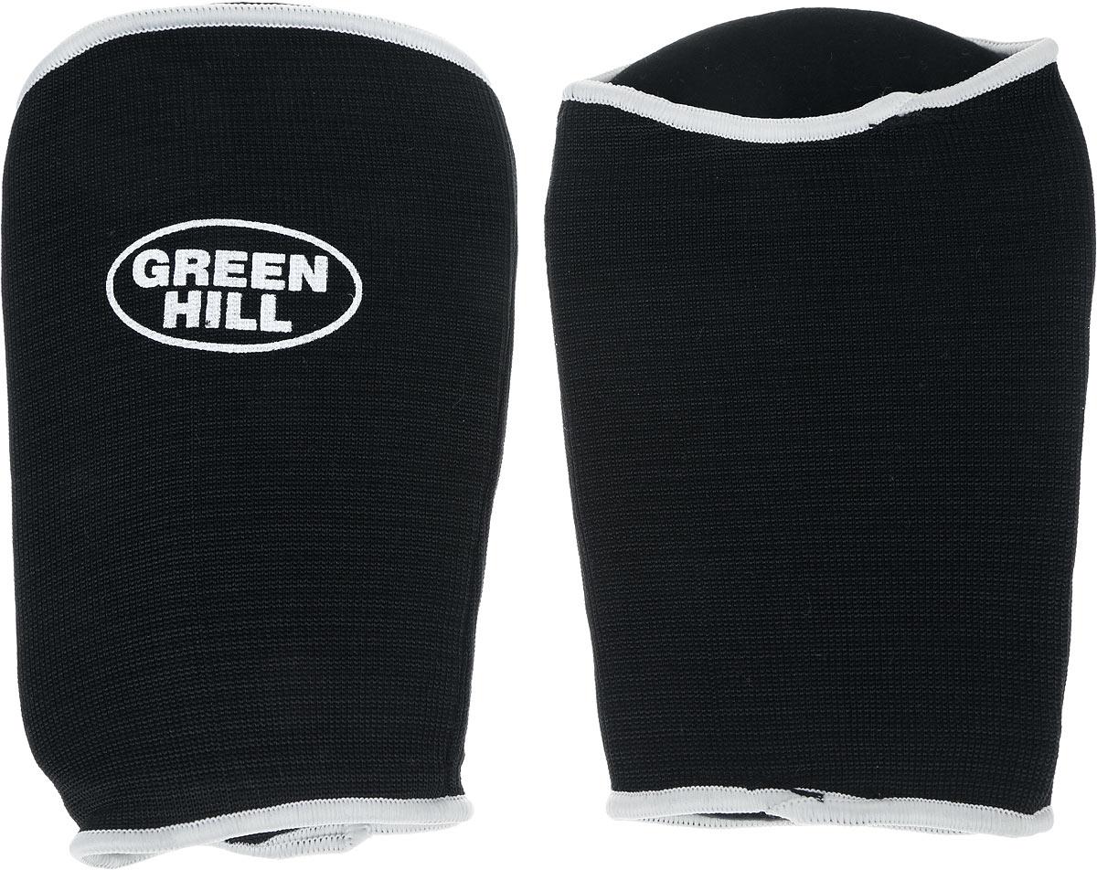 Защита на предплечье Green Hill, цвет: черный, белый. Размер M. AP-6132CG-6039Защита на предплечье Green Hill предназначена для занятий различными видами единоборств. Она защищает руки от синяков и ушибов. Защита изготовлена из хлопка с эластаном, мягкие вкладки изготовлены из вспененного полимера.