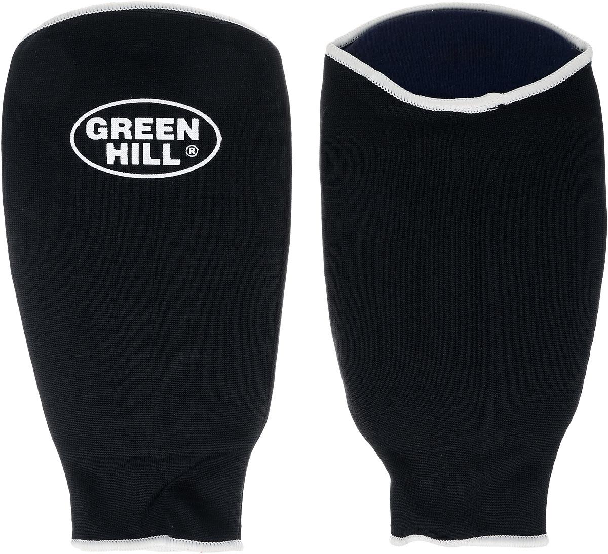 Защита на предплечье Green Hill, цвет: черный, белый. Размер L. AP-6132SIG-0012Защита на предплечье Green Hill предназначена для занятий различными видами единоборств. Она защищает руки от синяков и ушибов. Защита изготовлена из хлопка с эластаном, мягкие вкладки изготовлены из вспененного полимера.