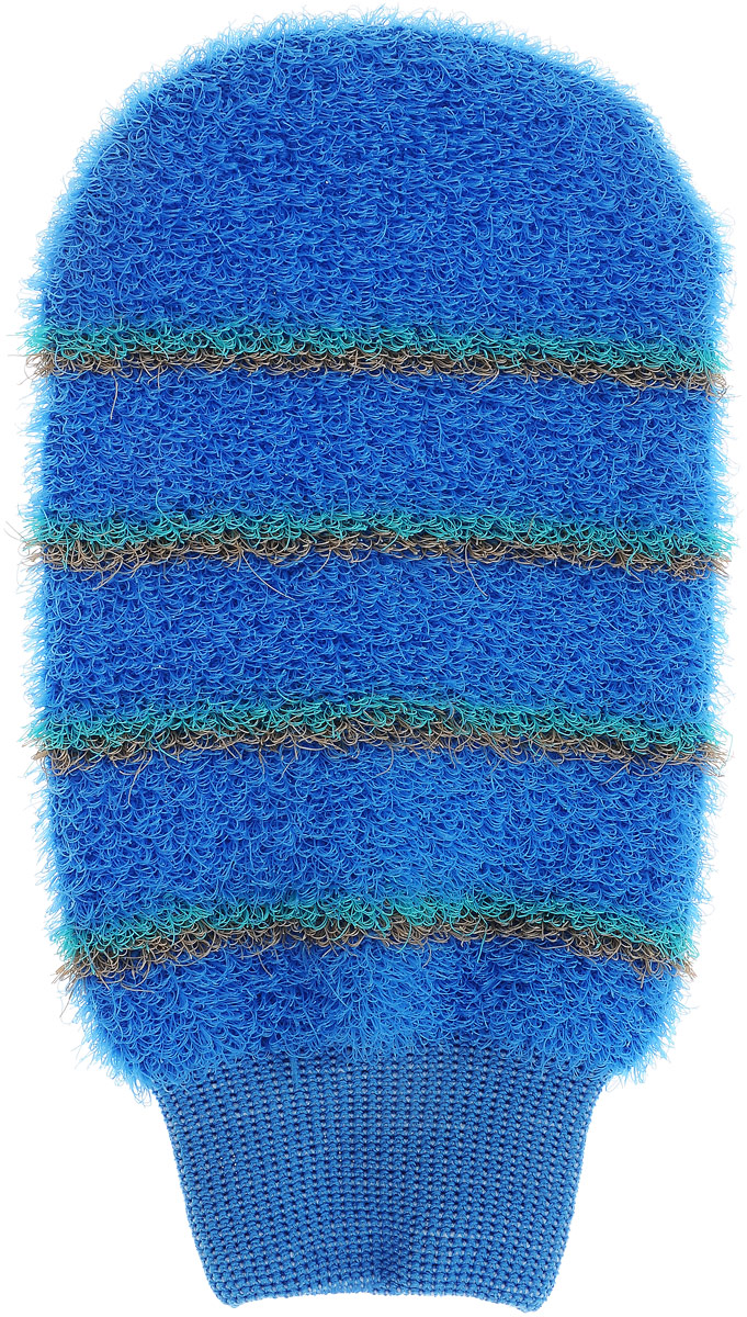 Мочалка-рукавица массажная Riffi, цвет: светло-синий1.7_розовыйМочалка-рукавица массажная Riffi, цвет: светло-синий
