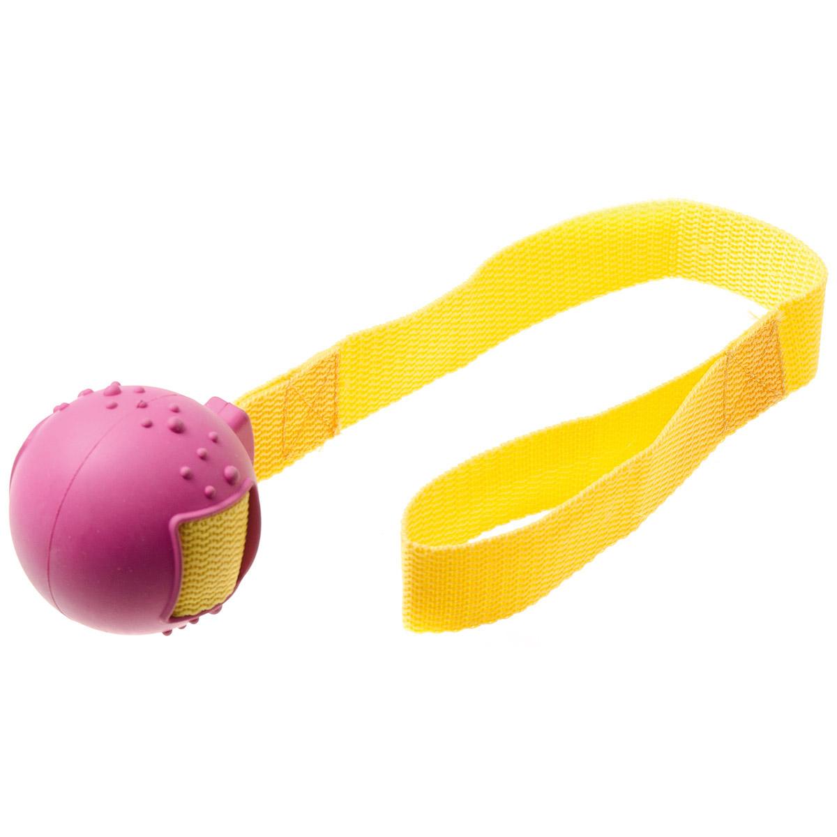 Игрушка для собак V.I.Pet Мяч на ручке, диаметр 5,5 смYU01KИгрушка для собак V.I.Pet Мяч на ручке предназначена для активной игры с питомцем в перетягивание и бросание. С этой игрушкой с удовольствием будут играть и щенки, и взрослые собаки. Изготовлена из экологически чистой резины - абсолютно нетоксичной и безопасной, моется водой.
