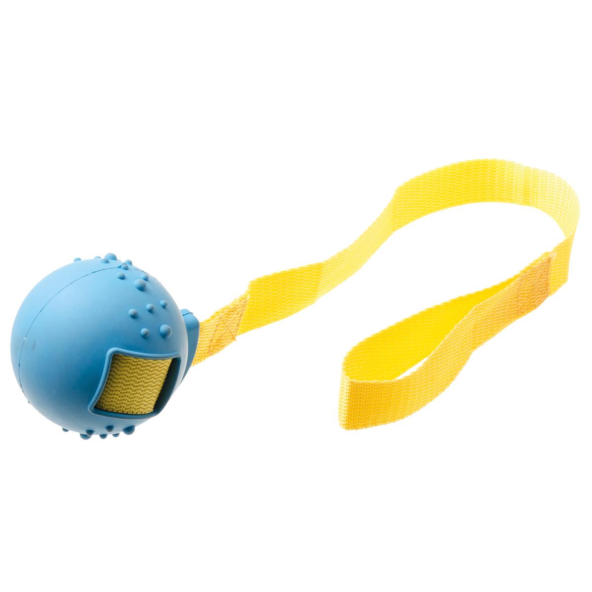 Игрушка для собак V.I.Pet Мяч на ручке, диаметр 8 см0120710Игрушка для собак V.I.Pet Мяч на ручке предназначена для активной игры с питомцем в перетягивание и бросание. С этой игрушкой с удовольствием будут играть и щенки, и взрослые собаки. Изготовлена из экологически чистой резины - абсолютно нетоксичной и безопасной, моется водой.