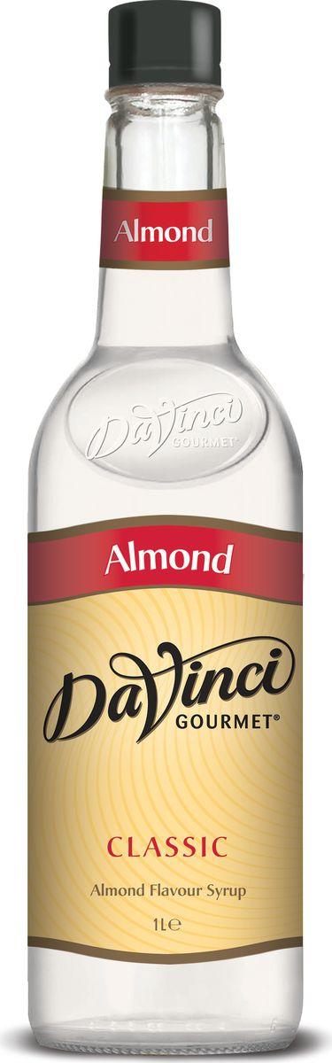 DaVinci Миндаль сироп, 1 л20393696Сироп Da Vinci Миндаль - это ароматная и очень вкусная добавка к кофе, которая сделает букет бодрящего напитка более интересным. Конечно, сироп Да Винчи Миндаль можно использовать и при приготовлении различных десертов - тортов, пирогов и других лакомств, однако наиболее гармоничное сочетание он образует с благородным кофе. Сироп Da Vinci Миндаль создается на основе натуральных ингредиентов, и содержание ароматизаторов в нем минимально. В отличие от многих других подобных продуктов, сироп Да Винчи Миндаль обладает натуральными вкусовыми характеристиками: в его букете чувствуются приятные оттенки ванили, карамели и, конечно же, миндаля. Рекомендуем попробовать сироп Da Vinci Миндаль гурманам, которые хотят внести разнообразие в классические кофейные посиделки.