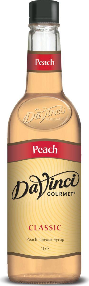DaVinci Персик сироп, 1 л0120710Сироп Da Vinci - британский продукт, который подсластит ваш чудесный кофе и подарит великолепный аромат персика. Лакомство изготовлено из высококачественного сырья, а его производство происходит на самом современном оборудовании. В аромате слышны ноты персиковой косточки и кураги, вкус кисло-сладкого персикового варенья.