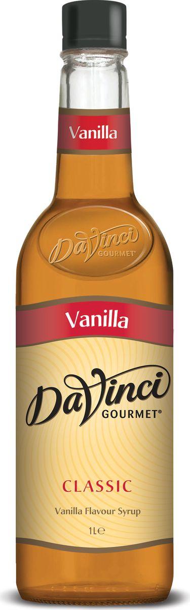 DaVinci Ваниль сироп, 1 л0120710Сироп Da Vinci Ваниль имеет классическую рецептуру, позволяющую покупателям всегда получать привычный вкус и отменное качество. Этот продукт производится в Великобритании. Основным его компонентом является тростниковый сахар. Сироп Да Винчи Ваниль - классический сироп с благородным вкусом и непередаваемым ароматом. Он способен превратить обыкновенную чашку кофе в произведение кулинарного искусства. Сироп Da Vinci Ваниль довольно концентрированный, поэтому на одну порцию достаточно всего лишь одной столовой ложки сладкого лакомства. Этот продукт станет незаменимым помощником для людей, которые часто готовят различные напитки на основе кофе. Вы сможете добиться потрясающего вкуса, не прилагая для этого особых усилий. Сироп Da Vinci Ваниль поможет не только взбодриться, выпив кофе, но и поднять с его помощью настроение.