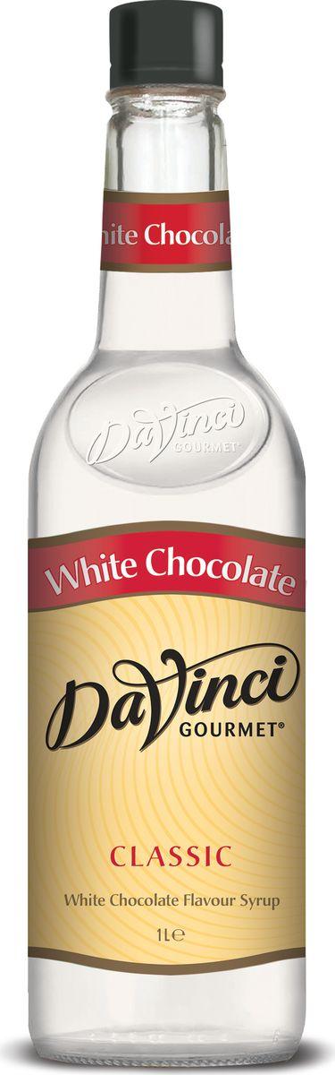 DaVinci Белый шоколад сироп, 1 л0120710Сироп Da Vinci - экзотическое дополнение для ароматного кофе. Лакомство производит британская компания из натурального сырья, поэтому за качество напитка беспокоиться не стоит. Тонкие молочные ноты в аромате, яркая сладость белого шоколада во вкусе. Лакомство пользуется огромной популярностью в ресторанах и кофейнях всего мира. Сироп Да Винчи продается в классических пластиковых бутылках, которые удобно хранить на кухне.
