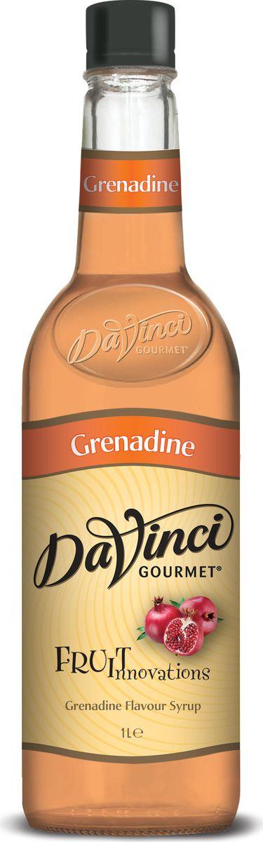 DaVinci Гренадин сироп, 1 л0120710Сироп Da Vinci - британский продукт, который подсластит ваш чудесный кофе и подарит великолепный аромат граната. Лакомство изготовлено из высококачественного сырья, а его производство происходит на самом современном оборудовании. В аромате сок спелого граната, вкус яркий, кислотный, дополненный сладостью сахарного тростника. Лакомство разливается в оригинальные пластиковые бутылки, которые удобно хранить на кухне.