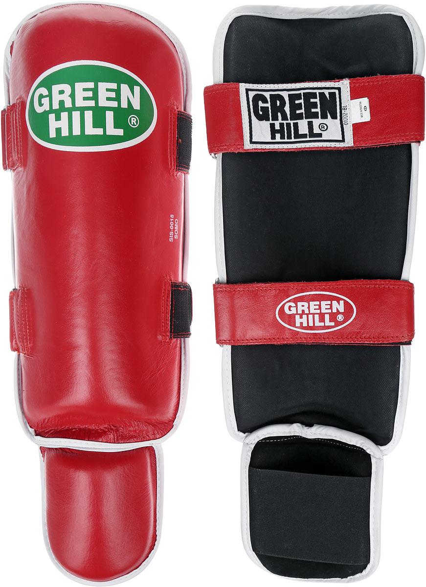 Защита голени и стопы Green Hill Somo, цвет: красный, белый. Размер S. SIS-0018