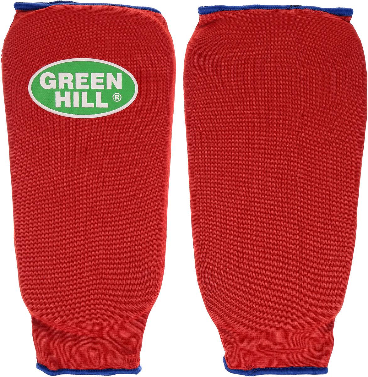 Защита голени Green Hill, цвет: красный, синий. Размер S. SPC-6210AIRWHEEL M3-162.8Защита голени Green Hill с наполнителем, выполненным из вспененного полимера, необходима при занятиях спортом для защиты суставов от вывихов, ушибов и прочих повреждений. Накладки выполнены из высококачественного эластана и хлопка.Длина голени: 23,5 см.Ширина голени: 14 см.