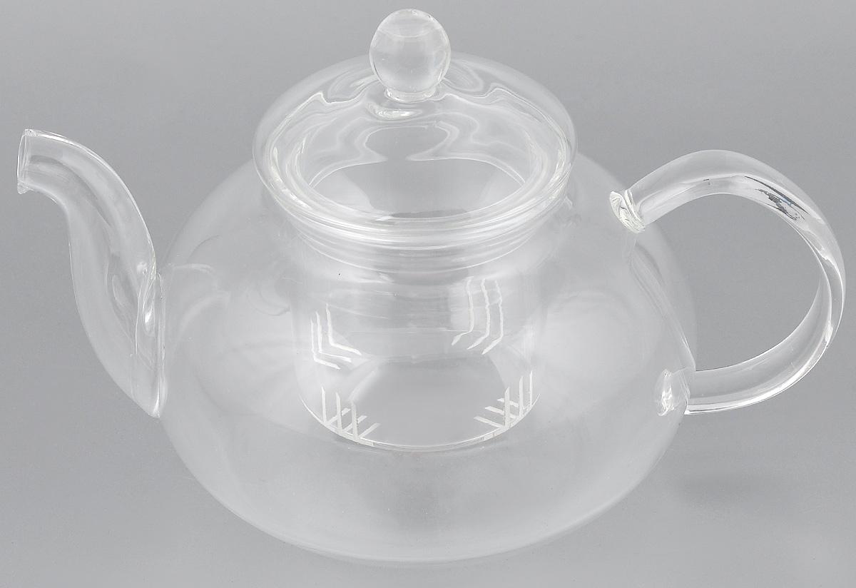 Чайник заварочный Hunan Provincial Смородина, 600 мл15038Заварочный чайник Hunan Provincial Смородина изготовлен из стекла. Пить чай из такого чайника сплошное удовольствие! Полностью прозрачная форма позволяет любоваться цветом своего любимого напитка. Устойчивая основа, широкий носик, удобная ручка - все выполнено идеально для достижения полного комфорта в использовании. Внутреннее сито выполнено на 100% из стекла. После того, как чай заварился, колбу лучше всего достать из чайника, для того чтобы чайный лист не перезаваривался.Диаметр чайника (по верхнему краю): 6,5 см. Высота чайника (без учета крышки): 7,5 см. Высота чайника (с учетом крышки): 12 см.Высота фильтра: 6 см.