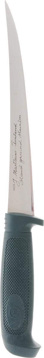 Нож филейный Marttiini Кондор, цвет: зеленый, длина лезвия 15 смW-Cat2Филейный нож Marttiini Кондор изготовлен из первоклассной нержавеющей стали и предназначен для нарезки продуктов, разделывания мяса. Лезвие заточено и сформировано для максимально эффективного использования. Резиновая рукоять хорошо держится в руке и не скользит. Такой нож станет прекрасным дополнением к коллекции ваших кухонных аксессуаров и не займет много места при хранении. Не рекомендуется мыть в посудомоечной машине. Общая длина ножа: 30,5 см.