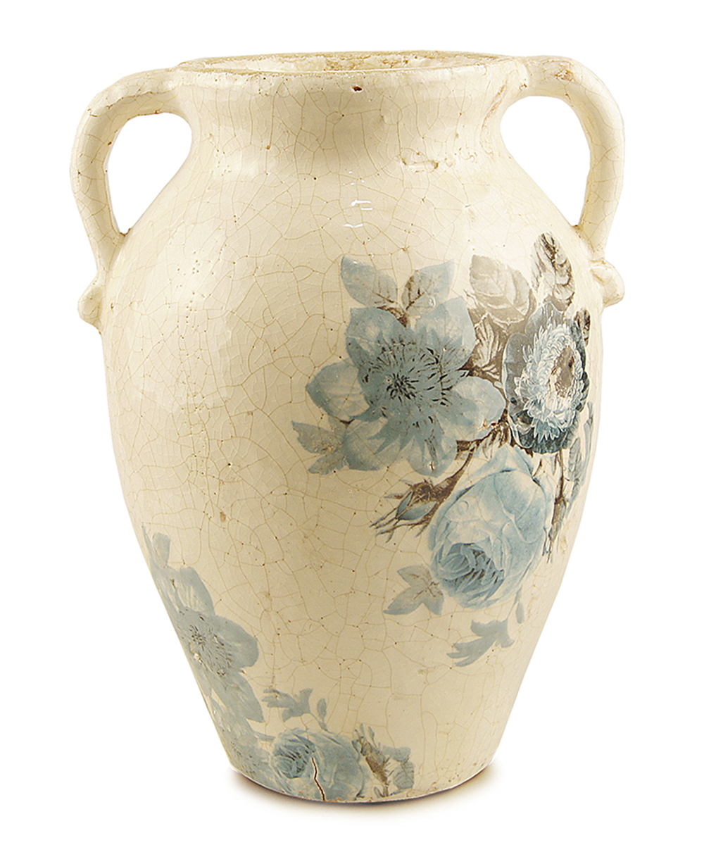 Ваза Этажерка Blue flowers, с ручками, высота 30 смFS-80299Ваза Этажерка Blue flowers выполнена из высококачественной керамики и имеет изысканный внешний вид. Изделие оснащено ручками. Такая ваза станет идеальным украшением интерьера и прекрасным подарком к любому случаю. Высота вазы: 30 см.