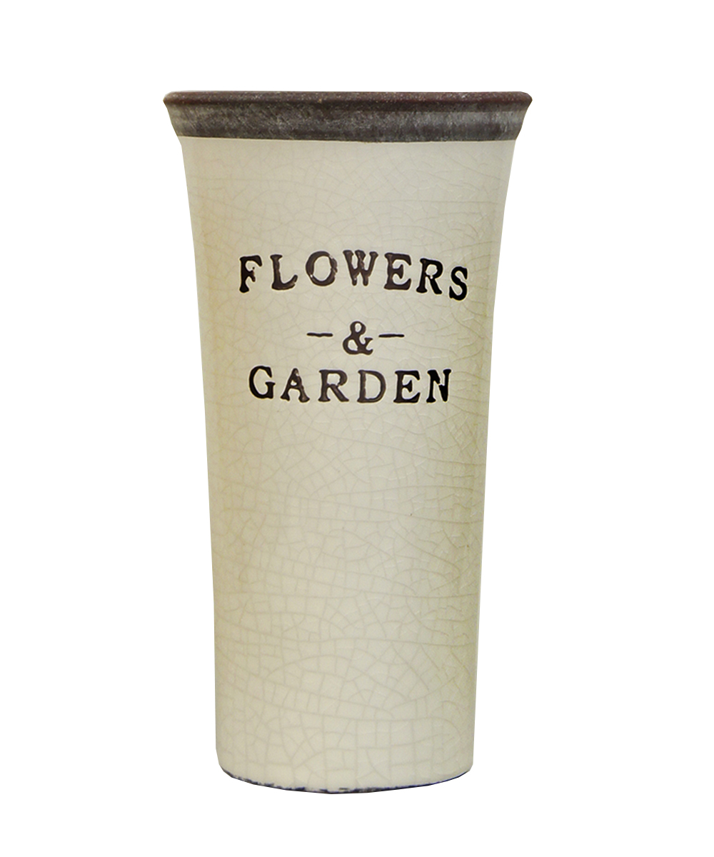 Ваза Этажерка Flowers & Garden, цвет: белый, серый, высота 21 смFS-80418Ваза Этажерка Flowers & Garden выполнена из высококачественной керамики и имеет изысканный внешний вид. Такая ваза станет идеальным украшением интерьера и прекрасным подарком к любому случаю. Высота вазы: 21 см.