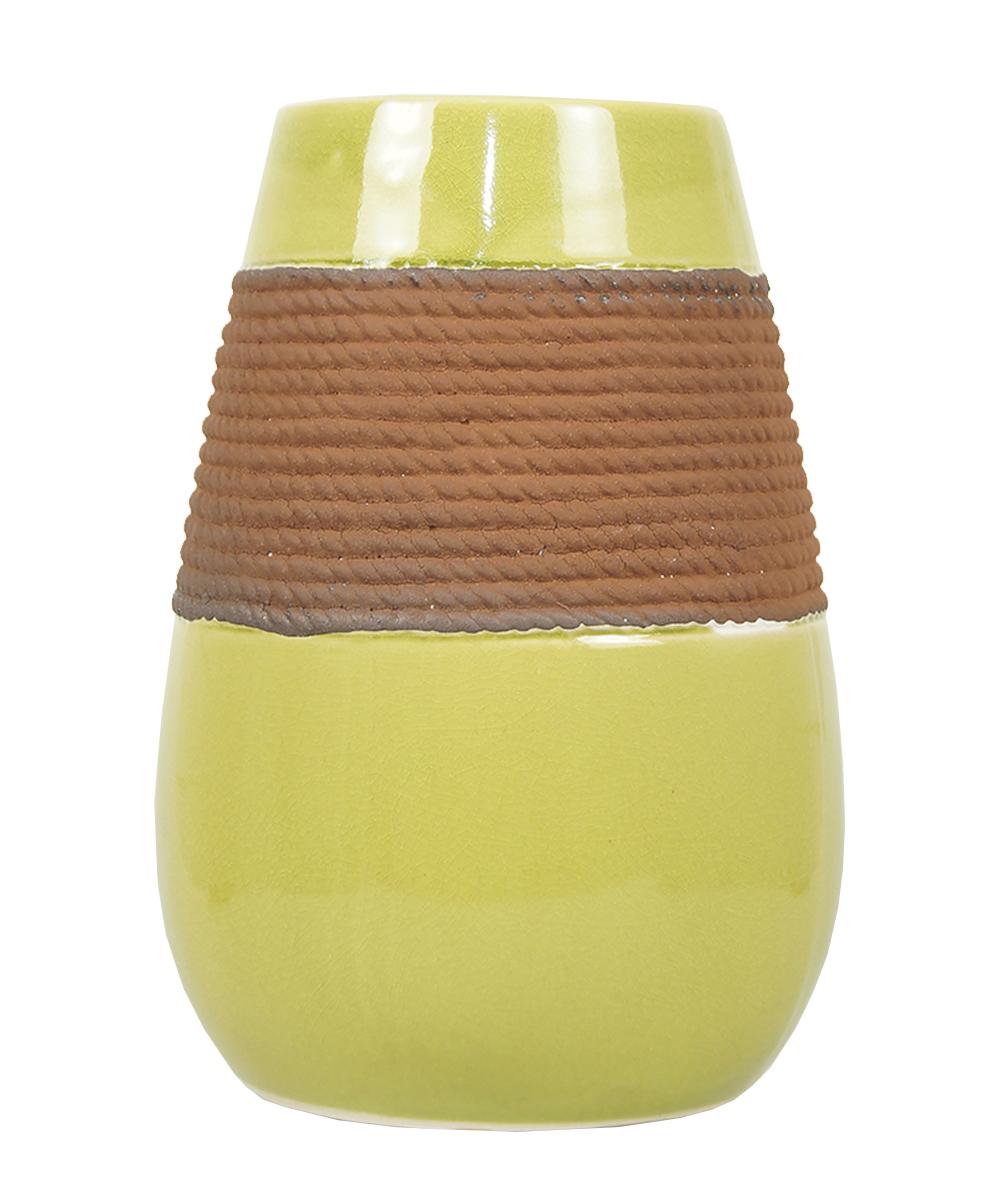 Ваза Этажерка Coletta, цвет: желтый, коричневый, высота 25 смFS-80423Ваза Этажерка Coletta выполнена из высококачественной керамики и имеет изысканный внешний вид. Такая ваза станет идеальным украшением интерьера и прекрасным подарком к любому случаю. Высота вазы: 25 см.