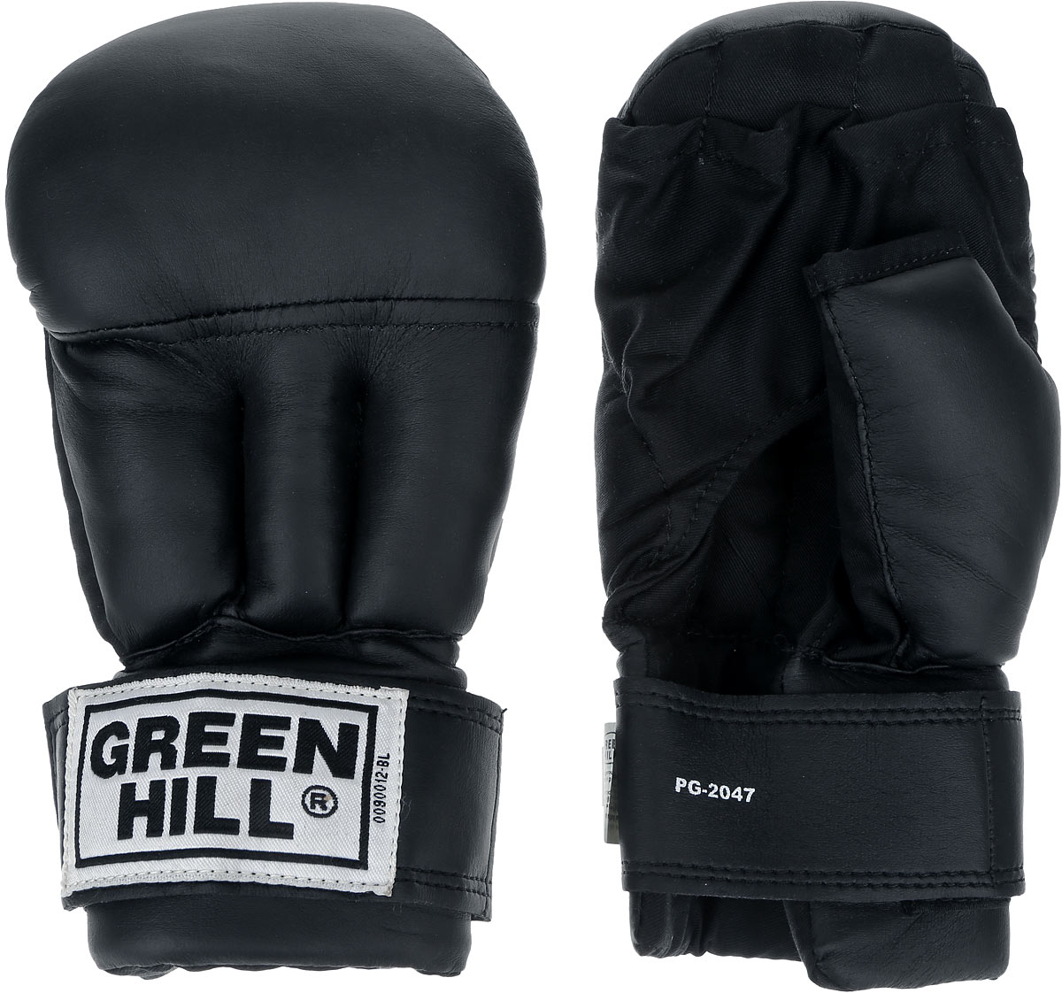 Перчатки для рукопашного боя Green Hill, цвет: черный, белый. Размер XL. PG-2047BB1637Перчатки для рукопашного боя Green Hill произведены из высококачественной искусственной кожи. Подойдут для занятий смешанными единоборствами. Конструкция предусматривает открытые пальцы - необходимый атрибут для проведения захватов. Манжеты на липучках позволяют быстро снимать и надевать перчатки без каких-либо неудобств.