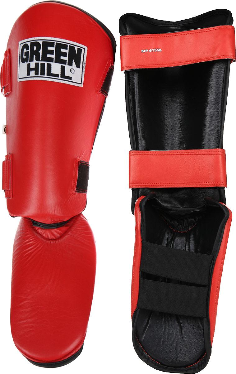 Защита голени и стопы Green Hill, цвет: красный, черный. Размер S. SIPS-6135bSIB-0014Защита голени и стопы Green Hill необходима при занятиях спортом для защиты пальцев и суставов от вывихов, ушибов и прочих повреждений. Выполнена из высококачественной натуральной кожи. Наполнитель изготовлен из вспененного полимера.Защита закрепляется при помощи ремней на липучках. Защита правильно подобранного размера надежно сидит на ноге, не спадает и не сваливается во время поединка.Длина голени: 31 см.Ширина голени: 16 см.Длина стопы: 23 см.Ширина стопы: 16 см.