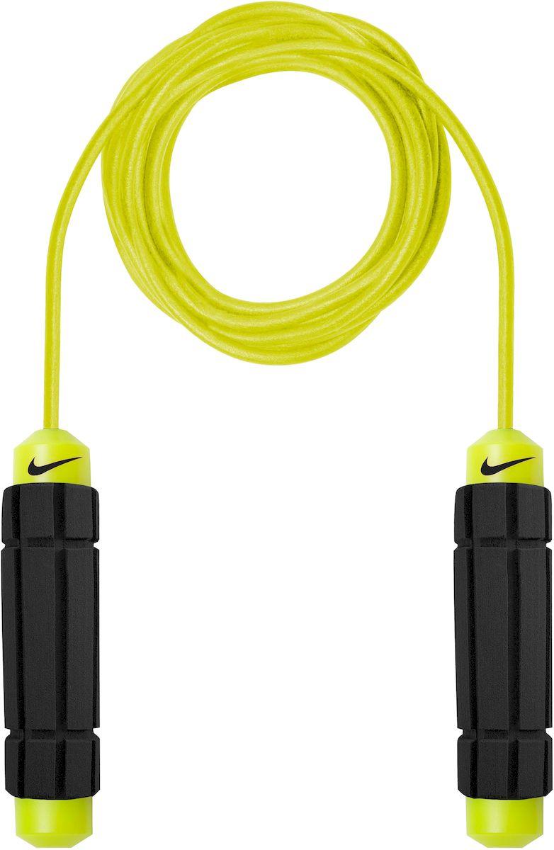 Скакалка Nike Speed Rope 2.0 Ns, цвет: желтый, черныйFABLSEH10002- Покрытый полиуретаном трос скакалки обеспечивает легкое оборачивание, не прилагая особых усилий.- Мягкие, форменные ручки.- Легко раскручивается, исключая запутывание троса.
