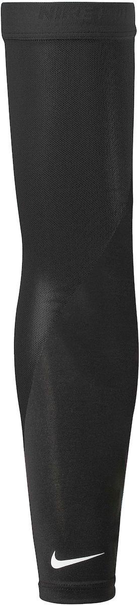 Нарукавник для бега Nike Pro Perf Arm Sleeves, цвет: черный, белый. Размер M/LSX4120-001Нарукавник для бега Nike Pro Perf Arm Sleeves, выполненный из полиэстера, обеспечивает сухость и комфор. Эластичная резинка обеспечивает надежную посадку. Отверстия для большого пальца для улучшенной посадки. Сетчатый материал, расположен в стратегически нужных местах.